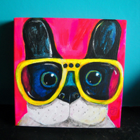 Cool Dog painting by Jo Brown with free shipping