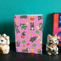 Bear Fruit birthday card in Pink