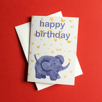 Happy Birthday Elephant Card by Jo Brown
