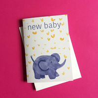 New Baby -Elephant Card by Jo Brown