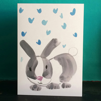 Baby Rabbit Card by Jo Brown