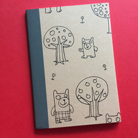 Unique hand decorated notebook by Jo Brown