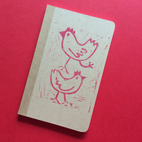 Hand Decorated plain notebook by Jo Brown