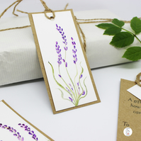 Hand Painted Original Lavender Gift Tags - Individually Hand Painted