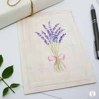 Lavender Greeting Card - Blank Card - Birthday Card