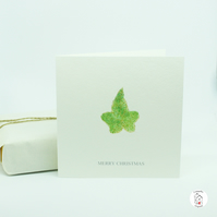 Ivy Botanical Print Christmas Card - Hand Designed And Finished by CottageRts