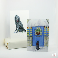 Dog and Cat Christmas Cards Pack of 6 Hand Finished by CottageRts