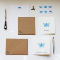 Butterfly Stationery Writing Set Stocking Filler Hand Designed By CottageRts