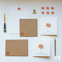Maple Leaf Stationery Letter Writing Paper Hand Designed By CottageRts