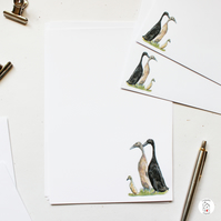 Runner Duck Letter Writing Paper Hand Designed By CottageRts