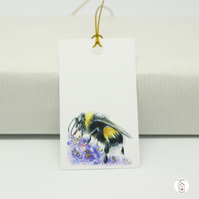 Bumble Bee Gift Tags, Pack of Six, Hand Designed