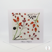 Hedgerow Berries Greeting Card - Blank Card - Birthday Card