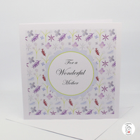 Mum Birthday Card Featuring Floral Surface Pattern