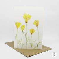 California Poppy Greeting Card by CottageRts