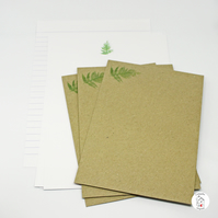 Fern Letter Writing Paper and Envelopes Hand Finished and Designed By CottageRts