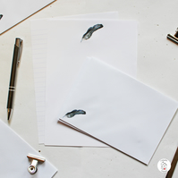 Feather Quill Letter Writing Paper and Envelopes Hand Designed By CottageRts