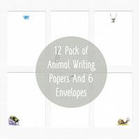 Animal Letter Writing Paper Mixed Pack Hand Designed By CottageRts