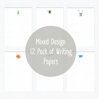 Mixed Pack Letter Writing Pack Hand Finished and Designed By CottageRts