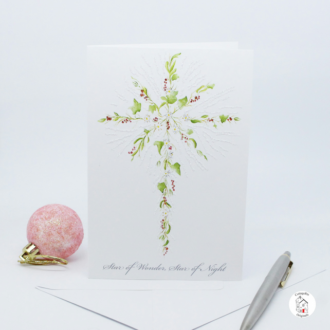 Christmas Card - Star of Bethlehem Christmas Card - Hand Designed and Finished