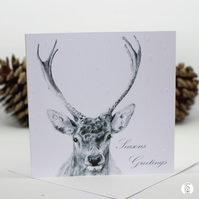Pack of Stag Christmas Cards - Deer Christmas Card - By CottageRts