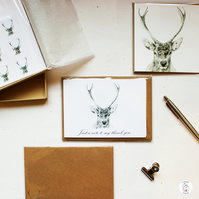 Boxed Stag Stationery Gift Set Hand Designed By CottageRts