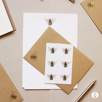 Bumble Bee Letter Writing Set  Stationery Set  Hand Designed and Finished