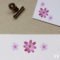 Pink Flower Floral Letter Writing Paper Hand Designed By CottageRts