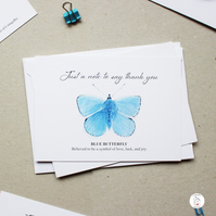 Butterfly Thank You Postcards Hand Designed By CottageRts Pack of 6