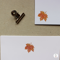 Maple Leaf Letter Writing Paper - Pack of 10 Sheets - Hand Designed