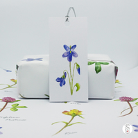 Wildflower Gift Wrap and Tags - 2 Sheets of A3 Wrapping Paper and 2 Tags