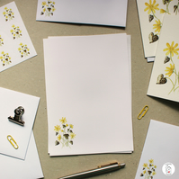 Lesser Celandine Stationery Writing Set Hand Designed By CottageRts