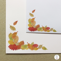 Autumn Leaves Letter Writing Paper and Envelopes Hand Designed By CottageRts