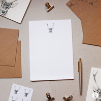 Stag Deer Letter Writing Paper Stationery Christmas Hand Designed By CottageRts