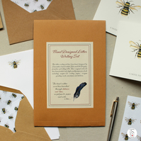 Hand Finished Bumble Bee Stationery Set With Wallet By CottageRts