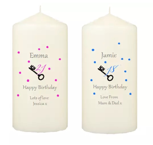 Personalised Birthday Candle 18th 21st Gift