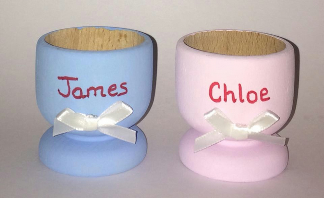 Personalised Egg Cup Easter Gift