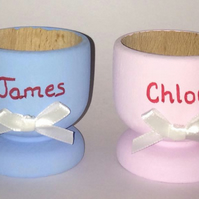 personalised egg cup, easter gift, personalised easter egg gift