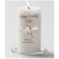 Personalised Birthday Candle GIft, Bird Design