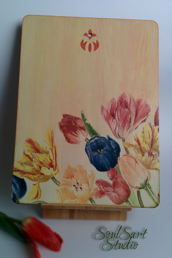 Cutting board DUTCH TULIPS