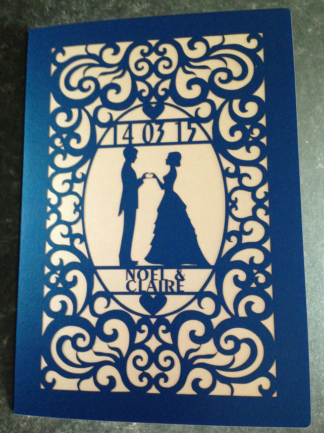 Wedding card (Laser Cut)