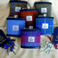 Set of six personalised groomsmens gift Hip Flask in choice of Harris Tweeds