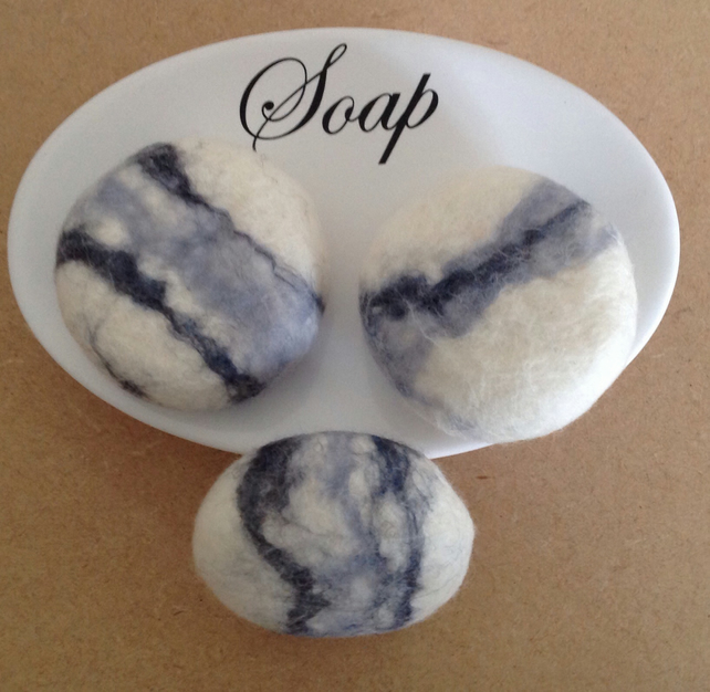 3 Soap Pebbles by Linda.