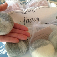 1 GREY Soap Pebble by Linda.