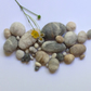 20 Pure Wool Felt Pebbles - by Linda.
