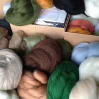 16 LANDSCAPE wool colours Felting Wools, needle felting & wet felting, wool tops