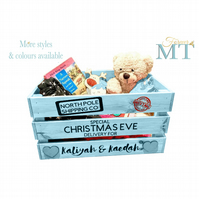 Personalised Christmas Eve box, Custom Christmas Eve crate, Christmas box.