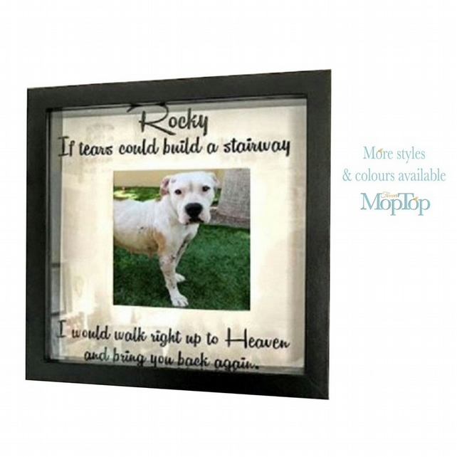 Personalised pet memorial frame, Custom dog memorial frame, Pet photo frame