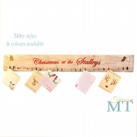 Christmas card holder, Rustic Christmas card hanger, Christmas name sign