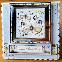 Gorgeous handmade butterfly card