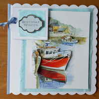 Gorgeous handmade boat card